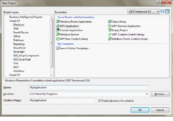 Create Setup and Deployment of WPF Application Step by Step