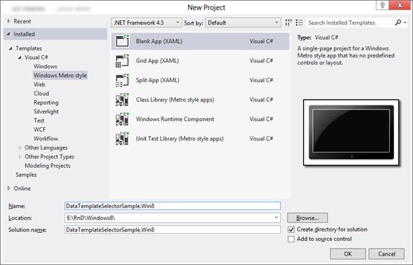 Data Template Selector in Windows 8 Metro XAML App   Method ~ of ~ Tried
