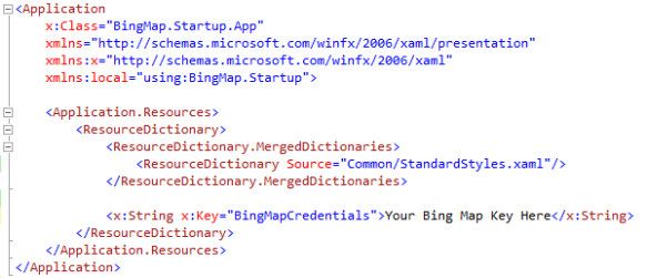 Starting Bing Map for Windows Store App (XAML) | Method ~ of ~ Tried