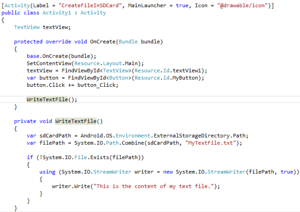Xamarin – Write file to SD Card in Android | Method ~ of ~ Tried