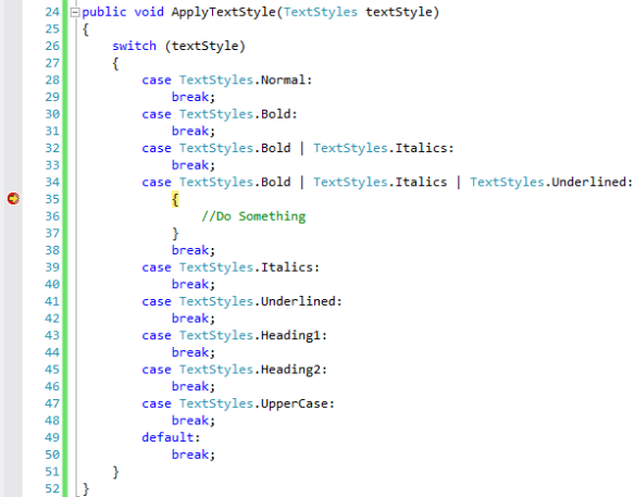 Creating Combination Enum in C# | Method ~ of ~ Tried