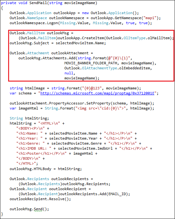 Sending HTML Mail in C# | Method ~ of ~ Tried